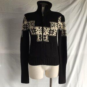 Ralph Lauren Aztec hand knit wool sweater Sz small